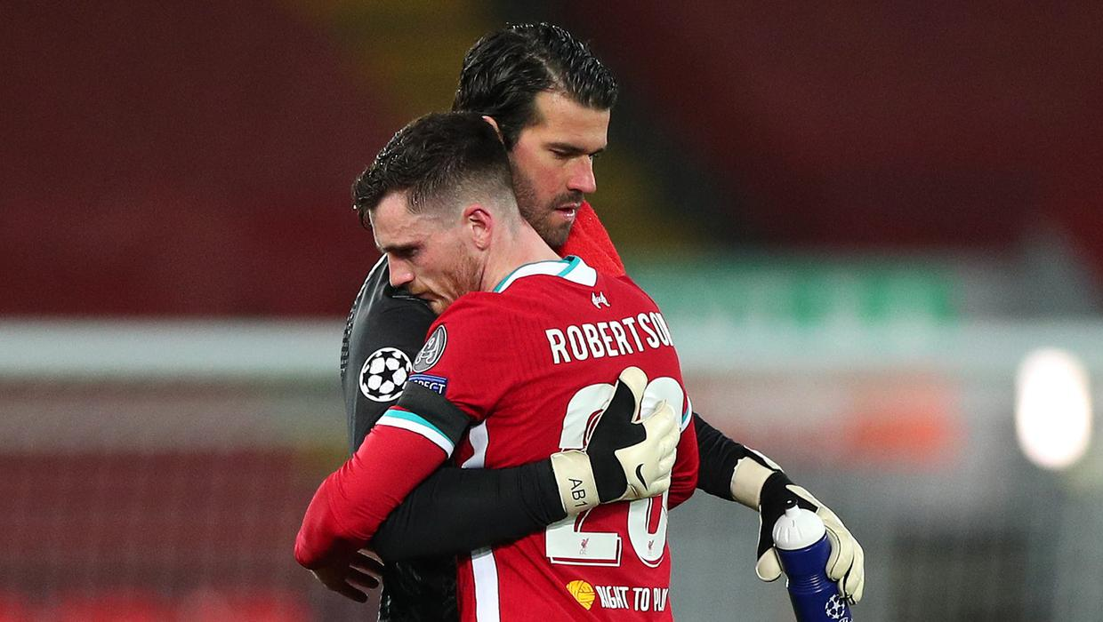 Andy Robertson is full of admiration for Liverpool's goalscoring goalkeeper
