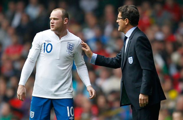 Wayne Rooney and Fabio Capello. Photo: Getty Images