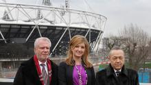 """Vice-chairman Karren Brady, centre, has hailed West Ham's Olympic Stadium move as a """"game-changer"""""""