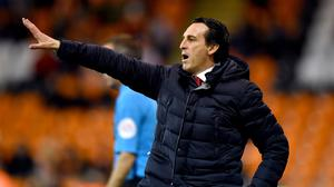 Unai Emery has ruled out making any permanent signings this month (Anthony Devlin/PA)