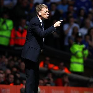 David Moyes, pictured, was disappointed by the decision to disallow Sylvain Distin's goal