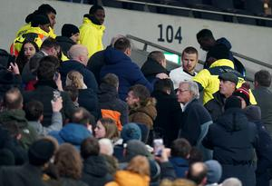 Dier climbed several rows of seating to confront a supporter after Spurs went out of the FA Cup (PA Wire)