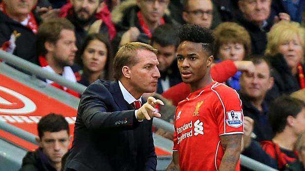 Brendan Rodgers (left) helped Raheem Sterling blossom during their time together at Liverpool. (Peter Byrne/PA)