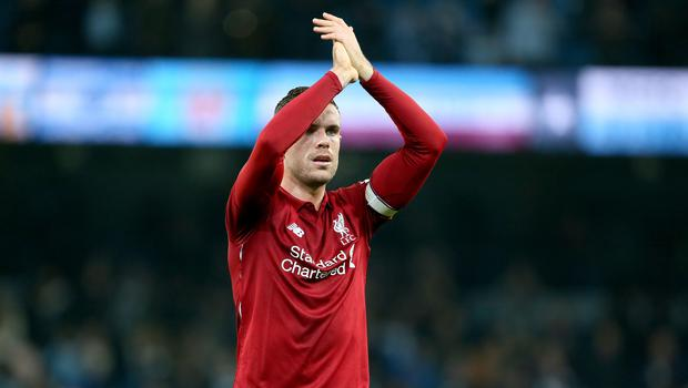 Liverpool captain Jordan Henderson insists how they react to a first Premier League defeat of the season is vital (Richard Sellers/PA).