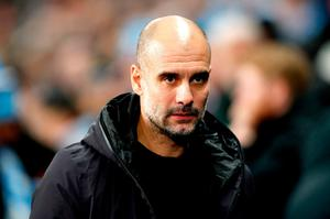 Manchester City manager Pep Guardiola. Photo: PA