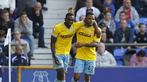 Yannick Bolasie, left, shone in Palace's victory at Goodison Park