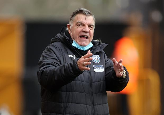 West Brom manager Sam Allardyce has received his first Covid-19 vaccination (Carl Recine/PA)