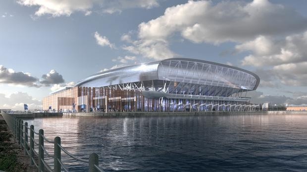 Everton are submitting a planning application for their new ground at Bramley-Moore Dock (Credit: Everton FC)