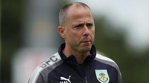 """Burnley coach Ian Woan during the pre-season friendly match at Aggborough, Kidderminster. PRESS ASSOCIATION Photo. Picture date: Saturday July 22, 2017. See PA story SOCCER Kidderminster. Photo credit should read: Nick Potts/PA Wire. RESTRICTIONS: EDITORIAL USE ONLY No use with unauthorised audio, video, data, fixture lists, club/league logos or """"live"""" services. Online in-match use limited to 75 images, no video emulation. No use in betting, games or single club/league/player publications."""