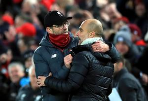 Jurgen Klopp got the better of Pep Guardiola in the Premier League this season (Peter Byrne/PA)