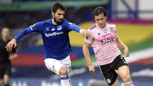 Andre Gomes, left, suffered a fracture dislocation to his right ankle in November (Peter Powell/Pool/PA)