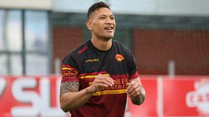 Israel Folau has made his debut for Catalans Dragons (Laurent Selles/Catalans Dragons)