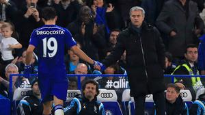 Jose Mourinho, right, was full of praise for the Stamford Bridge faithful following Chelsea's win over West Brom