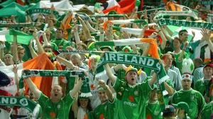 What Ireland could bring to the party, apart from facilities, is the goodwill that the country and its soccer fans have garnered over the last four decades. Photo: Sportsfile