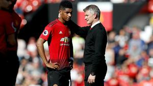 Manchester United manager Ole Gunnar Solskjaer is proud of Marcus Rashford's campaign for a free school meals extension.