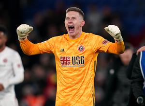 Sheffield United goalkeeper Dean Henderson has been in superb form (Tess Derry/PA)