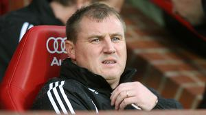 Paul Jewell was in charge when Derby were relegated with a record low Premier League points total (Martin Rickett/PA)