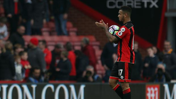 Joshua King took home the match ball after sinking West Ham