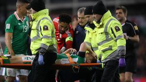 Seamus Coleman suffered a double leg break in last week's World Cup qualifier against Wales