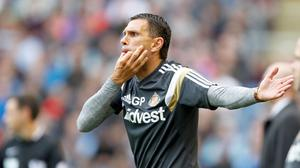 Sunderland Manager, Gus Poyet during the Barclays Premier League match at Turf Moor, Burnley.