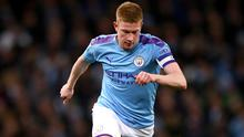 Manchester City's Kevin De Bruyne is battling to overcome a shoulder injury (Tim Goode/PA)