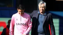 Everton manager Carlo Ancelotti believes even he could score goals playing in front of James Rodriguez (Nick Potts/PA)