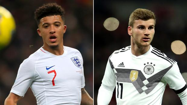 Could Jadon Sancho (left) and Timo Werner be heading to Liverpool next summer? (Mike Egerton/Nick Potts/PA)