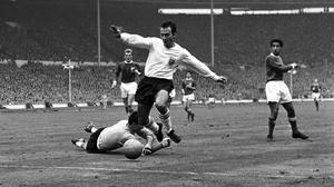 Jimmy Greaves in action for England back in 1965