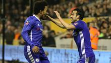 Pedro, right, and Willian will remain with Chelsea for the rest of the 2019-20 season (Nick Potts/PA)