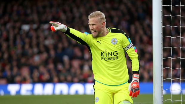 Leicester goalkeeper Kasper Schmeichel has a thigh injury