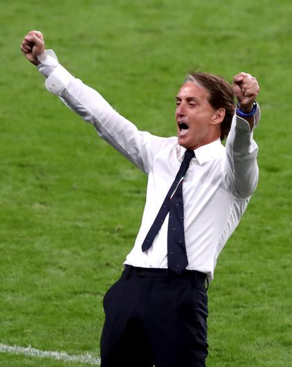 Roberto Mancini has overseen a turnaround in Italy's fortunes (Nick Potts/PA)