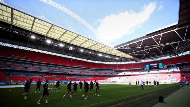 Teams are usually permitted to hold a training session at the venue on the night before a UEFA fixture (Nick Potts/PA)