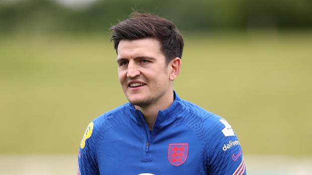 Harry Maguire back in training with England as he steps up recovery from injury in Euros race