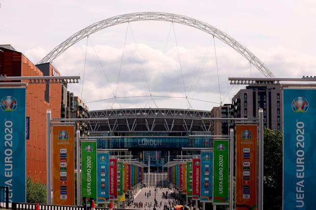 UEFA have a contingency plan to remove Wembley Stadium as the host venue for the Euro 2020 final. Photo: PA Wire
