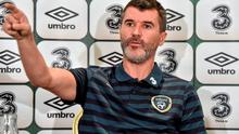 Republic of Ireland assistant manager Roy Keane answers questions during a press conference yesterday