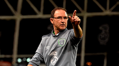 Martin O'Neill: 'I'm going to meet Roy and the backroom staff on Monday with a bit of luck and just digest everything and try and make a couple of decisions about what happens after our friendly game'. Picture credit: David Maher / SPORTSFILE