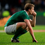 A dejected Andrew Trimble after yesterday's game in Port Elizabeth. Photo: Brendan Moran