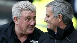 Steve Bruce, left, is a big fan of Jose Mourinho (Lynne Cameron/PA)