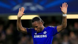 Chelsea's Didier Drogba was feted at a gala dinner
