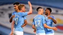 Manchester City inflicted defeat on newly-crowned champions Liverpool (Laurence Griffiths/NMC Pool)