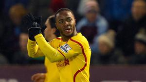 Liverpool's Raheem Sterling, pictured, has been rested by Brendan Rodgers