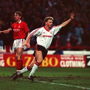 Mark Robins fired United to an FA Cup victory over Nottingham Forest in 1990 to earn Sir Alex Ferguson a stay of execution