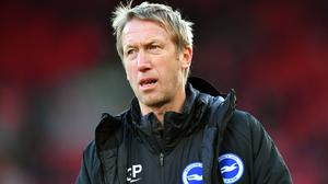 Graham Potter's Brighton sit 15th in the Premier League, two points above the relegation zone (Anthony Devlin/PA)