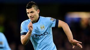 Manchester City's Sergio Aguero has not scored since returning from injury