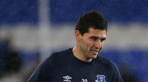 Antolin Alcaraz is back for Everton against Manchester City