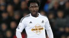 Manager Garry Monk insists Swansea remain firm in their valuation of Wilfried Bony, pictured