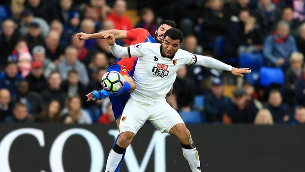 An own goal from Watford's Troy Deeney gave Crystal Palace a 1-0 victory at Selhurst Park