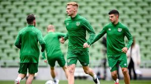 Liam Scales training with Ireland