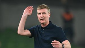 A decision of Stephen Kenny's future will be make in November says FAI chief Jonathan Hill. Photo: Stephen McCarthy/Sportsfile