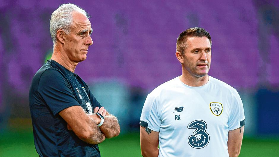 Robbie Keane with Mick McCarthy